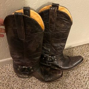 Old gringo brown boots ladies size 6.5B